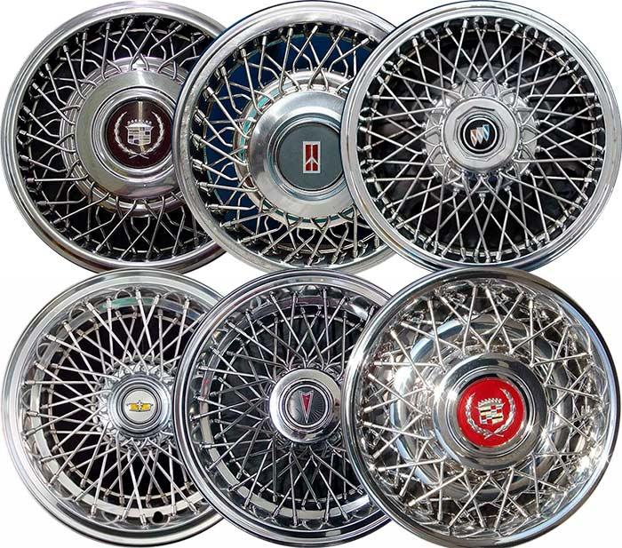 Спицевые колпаки Caddilac, Chevrolet, Pontiac, Oldsmobile, Buick